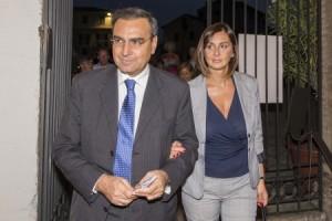 De Laurentiis con moglie
