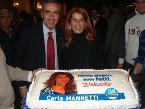 La Mannetti con Gasparri