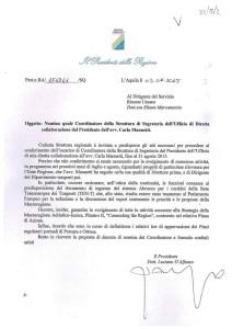 La lettera di incarico
