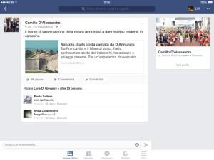 La pagina Facebook di D'Alessandro