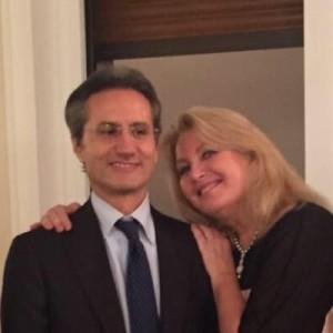 Caldoro con la moglie