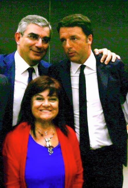 Renzi con D'Alfonso e la Pezzopane