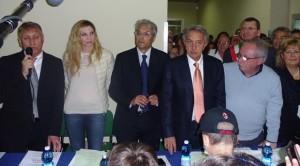 Chiodi col manager D'Amario e la Cuccarini