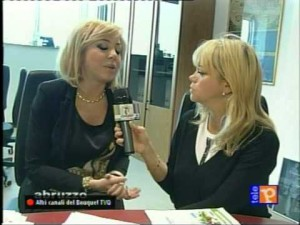 Sabrina Saccomandi (a sinistra) intervistata da Tania Bonnici Castelli