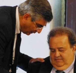 Donato Dii Matteo con Luciano D'Alfonso