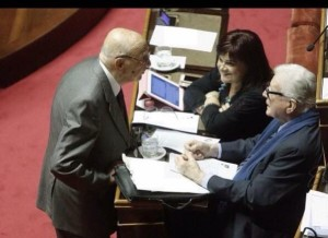 La Pezzopane con Napolitano