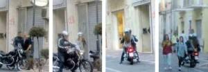 D'Alfonso in moto con la figlia nell'isola pedonale