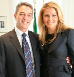 Nazario Pagano con la moglie Graziella