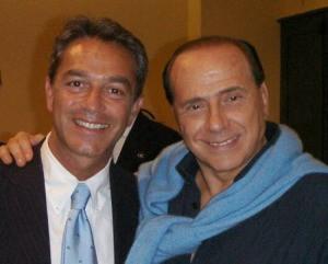 Nazario Pagano con Silvio Berlusconi