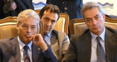 Gianni Chiodi con Gatti e Pagano
