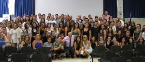 Gli studenti canadesi con al centro Di Pangrazio, lo scorso luglio