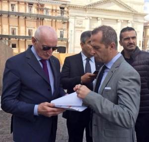 Squitieri col presidente della Provincia di Pescara