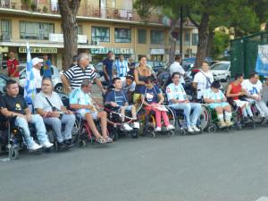 Una protesta dei disabili