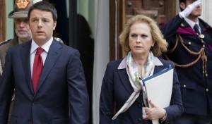 Ilva Sapora con Matteo Renzi