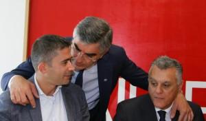 Luciano D'Alfonso con Silvio Paolucci e Luciano Monticelli