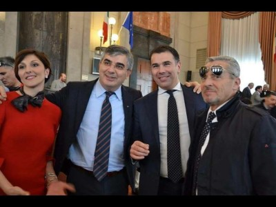 Gero con Dalfy e la moglie Marianna Scoccia
