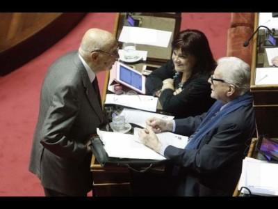 La Pezzo con Napolitano e Zavoli
