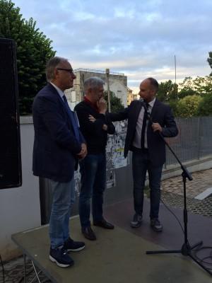 Il sindaco di Lanciano Mario Pupillo con l'avvocato Russo e il segretario Pd Marongiu
