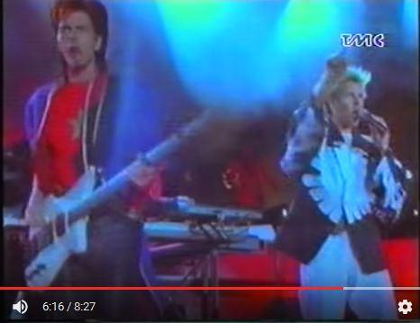 Qui e nella foto sopra, il concerto del 1987