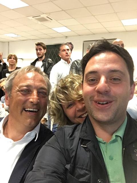 Luciani con D'Alessandro e la Canosa