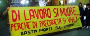 Abruzzo, di lavoro si muore