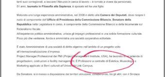 Marsilio, la bugia sul curriculum