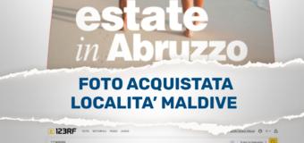 Spot dell'Abruzzo con foto delle Maldive